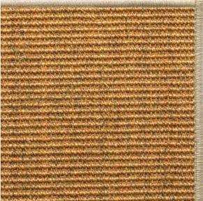 Cognac Sisal Rug with Serged Border (Color 93) - Free Shipping