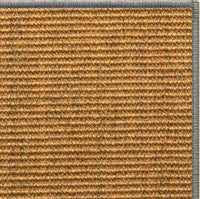 Cognac Sisal Rug with Serged Border (Color 989) - Free Shipping