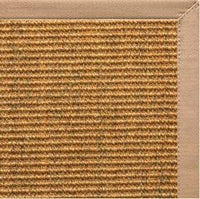 Cognac Sisal Rug with Straw Cotton Border - Free Shipping