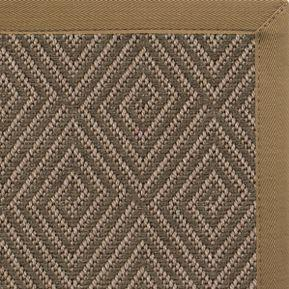 Malta Orris Patterned Outdoor Area Rug with Canvas Adobe Brown Border - Free Shipping