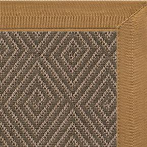 Malta Orris Patterned Outdoor Area Rug with Canvas Adobe Brown Border