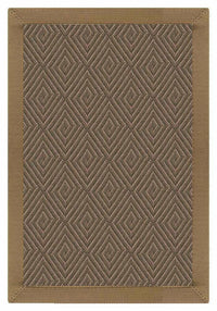 Area Rugs - Sustainable Lifestyles Malta Orris Patterned Outdoor Area Rug With Canvas Adobe Brown Border