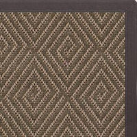 Malta Orris Patterned Outdoor Area Rug with Canvas Black Border