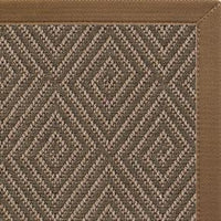 Malta Orris Patterned Outdoor Area Rug with Canvas Mocha Border