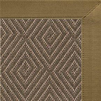 Malta Orris Patterned Outdoor Area Rug with Canvas Pecan Brown Border - Free Shipping