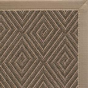 Malta Orris Patterned Outdoor Area Rug with Putty Canvas Border
