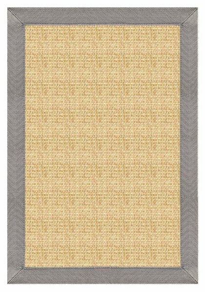 Area Rugs - Sustainable Lifestyles Sand Colored Sisal Area Rug With Coin Canvas Border