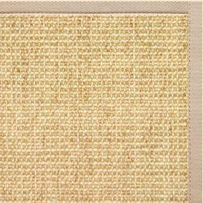 Sand Sisal Rug with Alabastor Cotton Border - Free Shipping