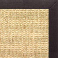 Sand Sisal Rug with Black Linen Border - Free Shipping