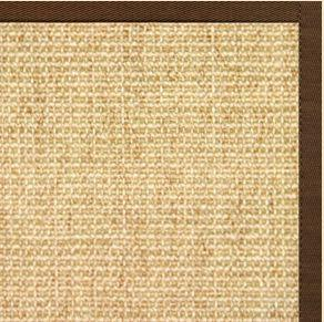 Sand Sisal Rug with Bronze Cotton Border - Free Shipping