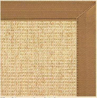 Sand Sisal Rug with Canvas Adobe Brown Border