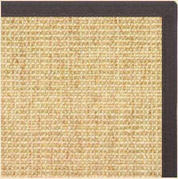 Sand Sisal Rug with Canvas Black Border - Free Shipping