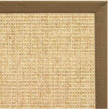 Sand Sisal Rug with Canvas Pecan Brown Border