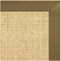 Sand Sisal Rug with Canvas Pecan Brown Border - Free Shipping