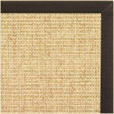 Sand Sisal Rug With Chocolate Canvas Border