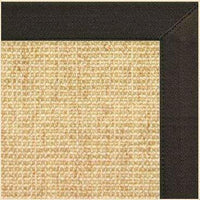 Sand Sisal Rug with Chocolate Canvas Border - Free Shipping