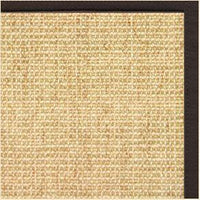 Sand Sisal Rug with Cocoa Bean Cotton Border - Free Shipping