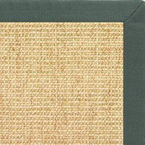 Sand Sisal Rug with Green Linen Border - Free Shipping