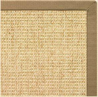 Sand Sisal Rug with Green Mist Cotton Border - Free Shipping