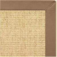 Sand Sisal Rug with Harvest Haze Cotton Border - Free Shipping