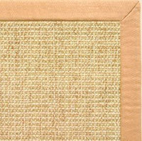Sand Sisal Rug with Honey Linen Border - Free Shipping