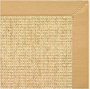 Sand Sisal Rug with Honeycomb Cotton Border - Free Shipping