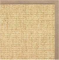 Sand Sisal Rug with Ivory Blush Cotton Border - Free Shipping