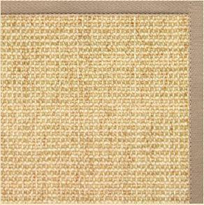 Sand Sisal Rug with Ivory Blush Cotton Border