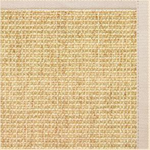 Sand Sisal Rug with Ivory Cotton Border