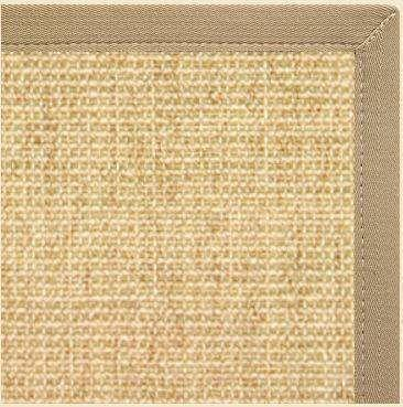 Sand Sisal Rug with Khaki/Tan Canvas Border
