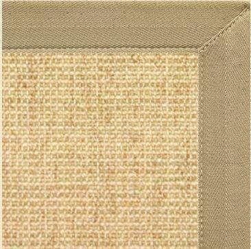 Sand Sisal Rug With Khaki Tan Canvas Border