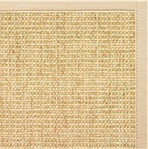 Sand Sisal Rug with Magnolia Cotton Border - Free Shipping
