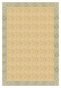 Area Rugs - Sustainable Lifestyles Sand Sisal Rug With Medallions Tapestry Border