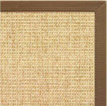 Sand Sisal Rug with Mocha Brown Canvas Border