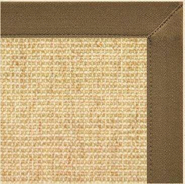 Area Rugs - Sustainable Lifestyles Sand Sisal Rug With Mocha Brown Canvas Border