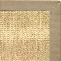 Sand Sisal Rug with Moon Rock Gray Cotton Border - Free Shipping
