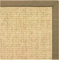 Sand Sisal Rug with Oat Straw Cotton Border - Free Shipping