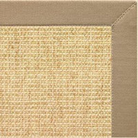 Sand Sisal Rug with Oatmeal Cotton Border - Free Shipping
