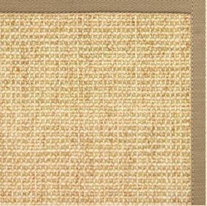 Sand Sisal Rug with Pale Ash Cotton Border