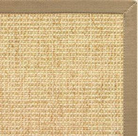 Sand Sisal Rug with Pale Ash Cotton Border - Free Shipping