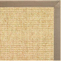 Sand Sisal Rug with Putty Canvas Border - Free Shipping