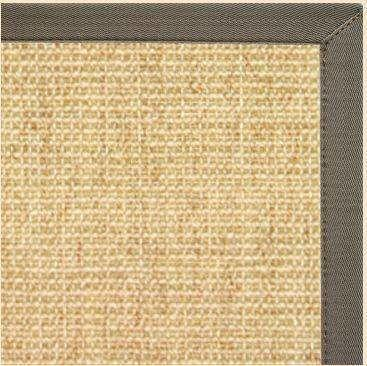 Sand Sisal Rug with Quarry Canvas Border - Free Shipping