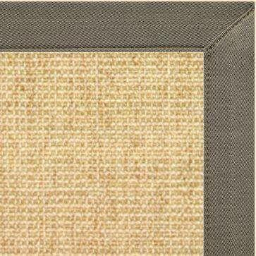 Area Rugs - Sustainable Lifestyles Sand Sisal Rug With Quarry Canvas Border