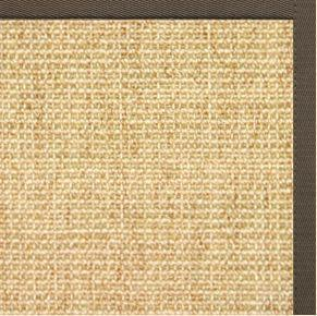 Sand Sisal Rug with Rye Cotton Border - Free Shipping