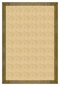 Area Rugs - Sustainable Lifestyles Sand Sisal Rug With Sage Leather Border