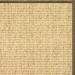 Sand Sisal Rug with Serged Border (Color 10639) - Free Shipping