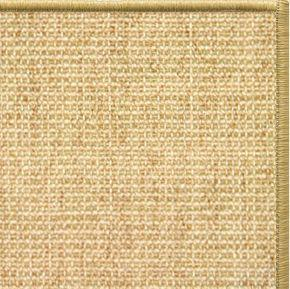Sand Sisal Rug with Serged Border (Color 10816) - Free Shipping