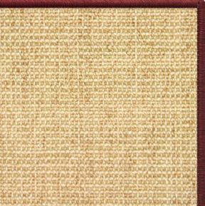 Sand Sisal Rug with Serged Border (Color 11989) - Free Shipping