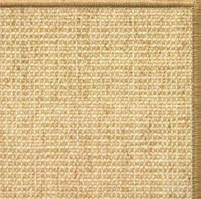 Sand Sisal Rug with Serged Border (Color 200) - Free Shipping