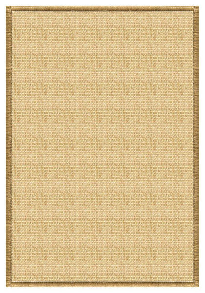 Area Rugs - Sustainable Lifestyles Sand Sisal Rug With Serged Border (Color 200)